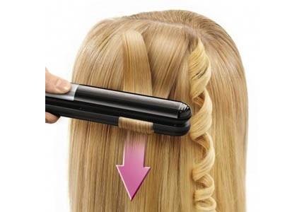 Rowenta 2 az 1-ben hajvasaló az egyenes hajhoz és a loknikhoz