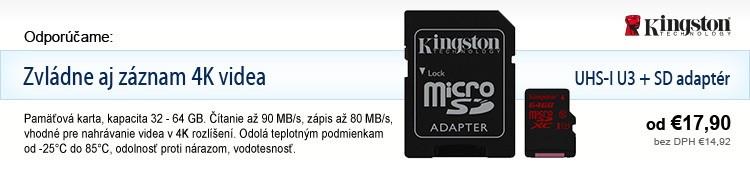 Kingston Micro SDHC/SDXC UHS-I U3 + SD adaptér