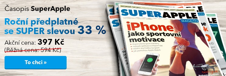 SuperApple na rok se slevou 33 %