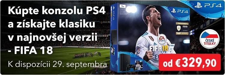 Konzole PS4 + Fifa 2018