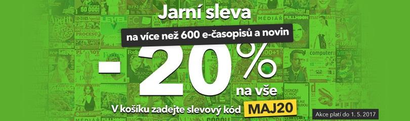 - 20 % na časopisy a noviny