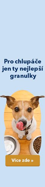 Pro chlupáče jen ty nejlepší granulky - levé ucho