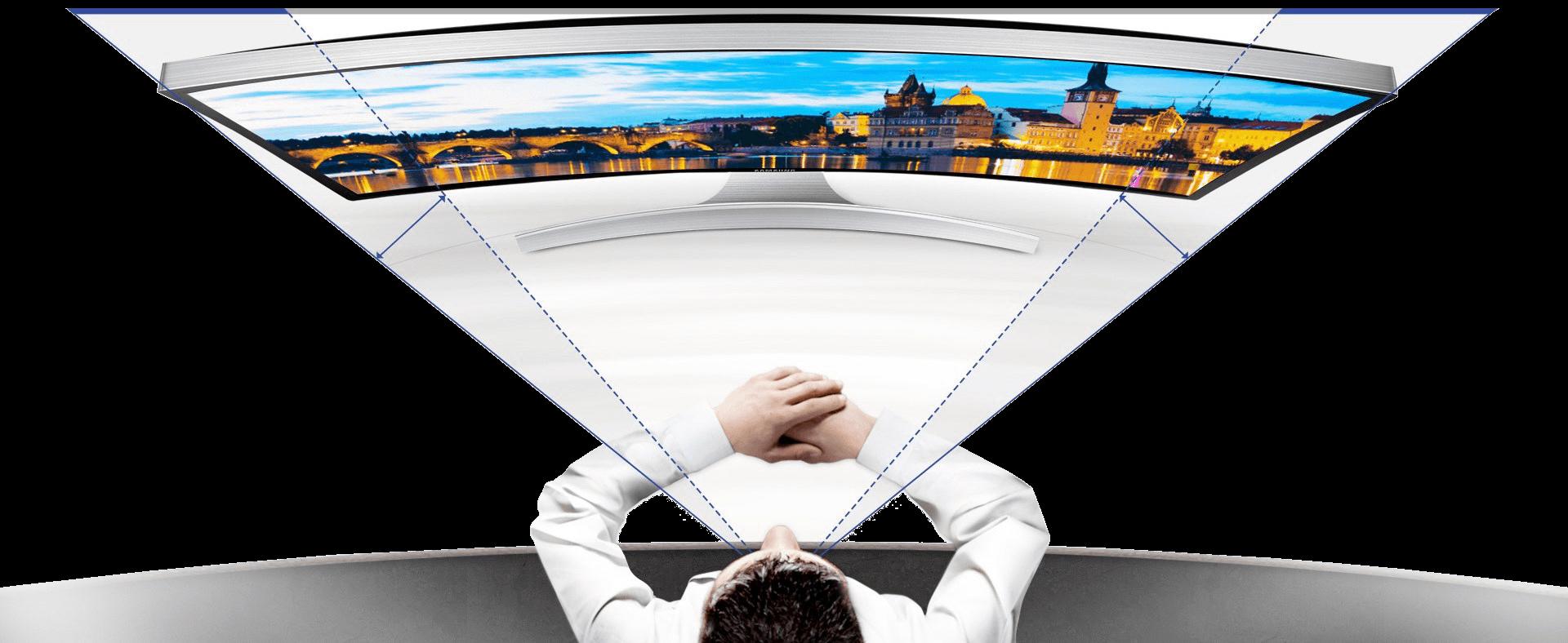 Prohnutý monitor