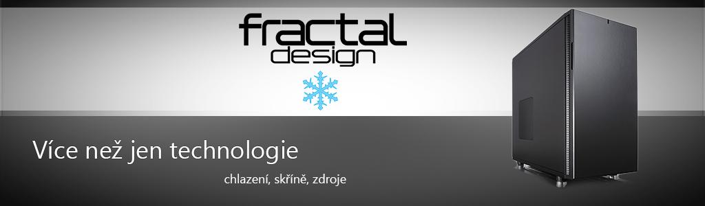 Logo Fractal Design, slogan a skříň
