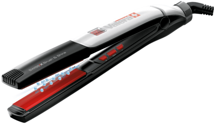 Valera Swiss X Professional Brush Amp Shine Set Flat Iron