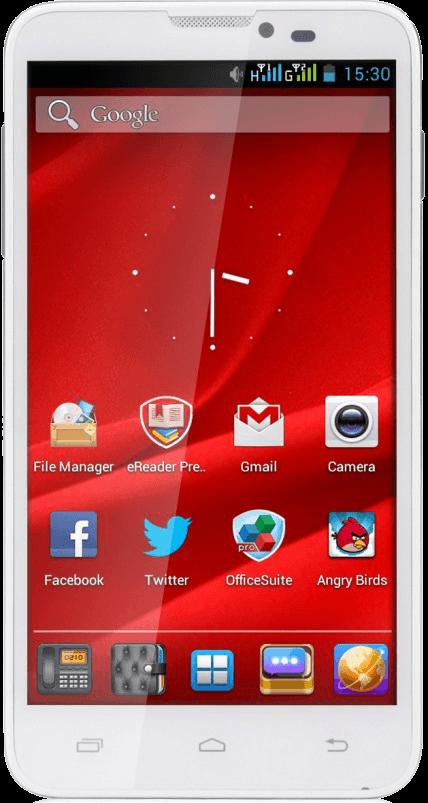 Prestigio MultiPhone 5300 DUO bílý
