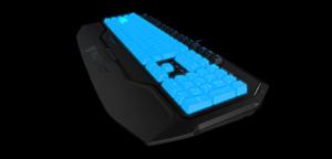 Diese Tastatur verfügt über beleuchtete Tasten