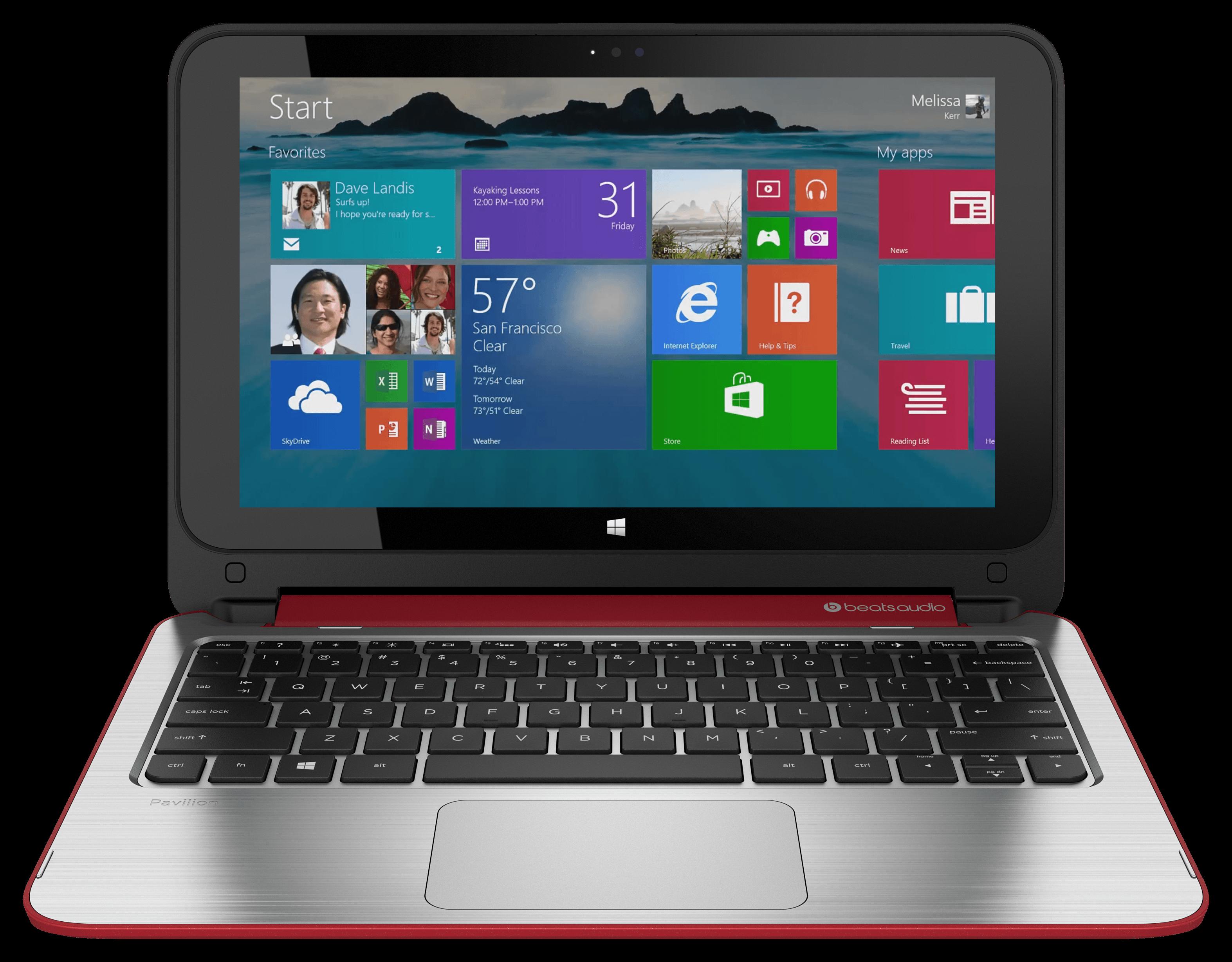 Tablet PC HP Pavilion 11-n003ec x360 Brilliant Red