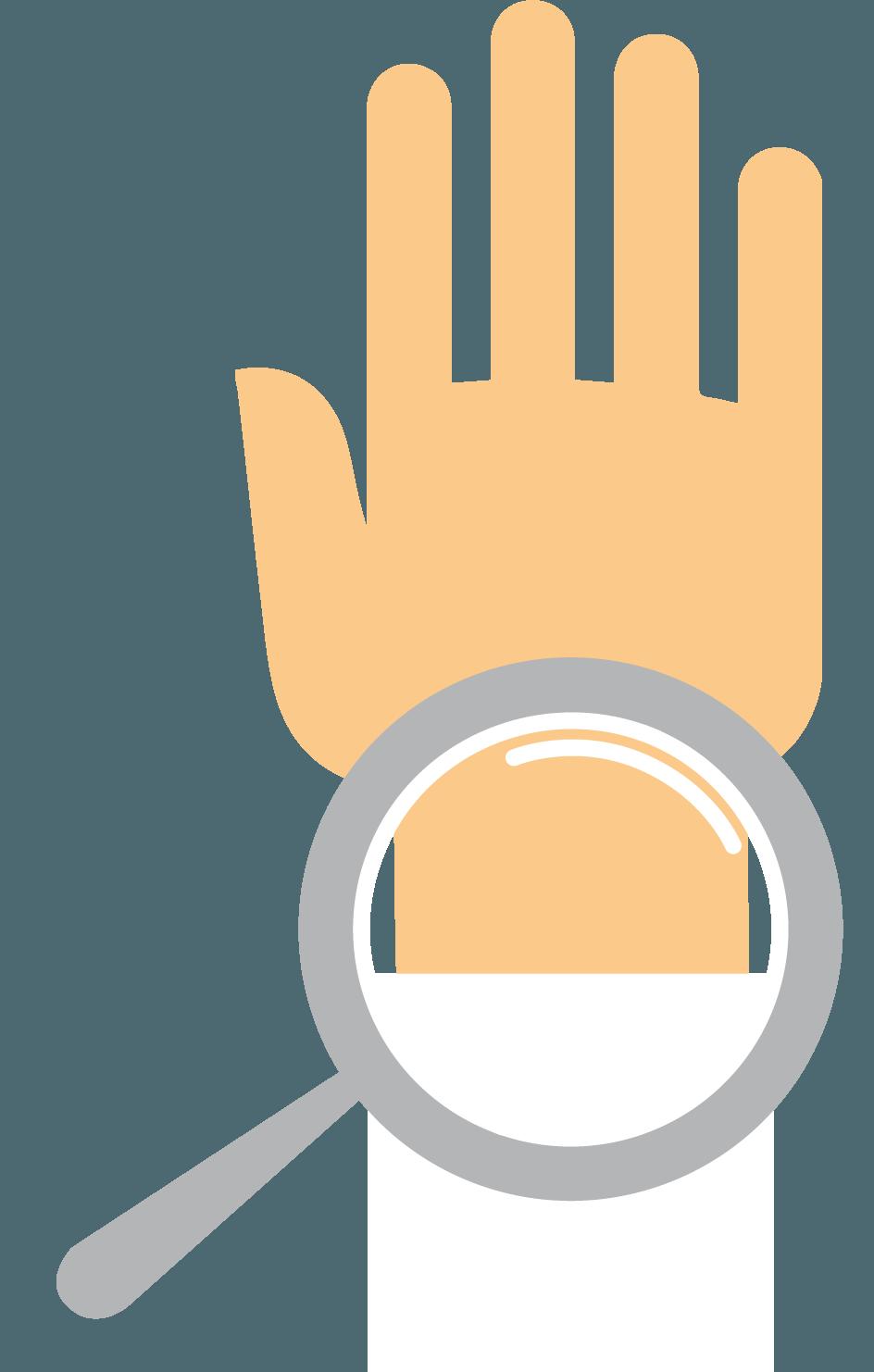 správná poloha ruky