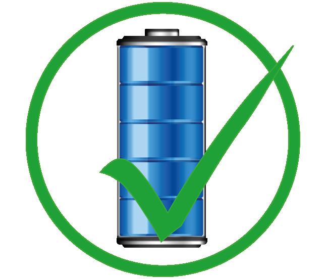 Baterie v dobré kondici