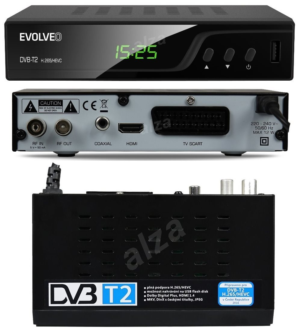 evolveo omega t2 dvb t2 receiver. Black Bedroom Furniture Sets. Home Design Ideas