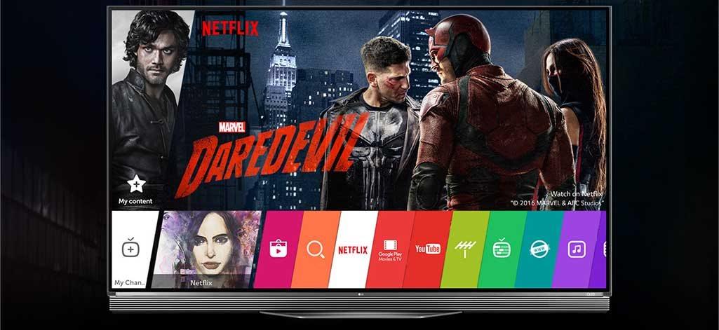 LG Signature OLED TV a Netflix