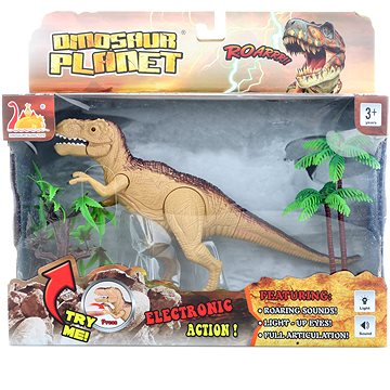 Dinosaurus T-Rex na baterie
