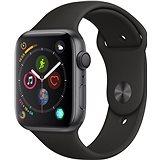 Apple Watch Series 4 44mm Vesmírně černý hliník s černým sportovním řemínkem