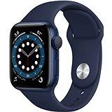 Apple Watch Series 6 44mm Modrý hliník s námořně modrým sportovním řemínkem
