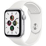 Apple Watch SE 40mm Stříbrný hliník s bílým sportovním řemínkem