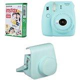 Fujifilm Instax Mini 9 světle modrý + 10x fotopapír + pouzdro