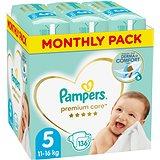 PAMPERS Premium Care vel. 5 Junior (136 ks) - měsíční balení