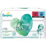 PAMPERS Aqua Pure vlhčené ubrousky 3 × 48 ks