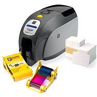 Zebra ZXP3 + barevná barvící páska + plastové karty