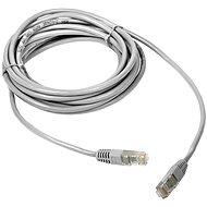 DATACOM Patch cord UTP CAT5E 0.25m bílý - Síťový kabel
