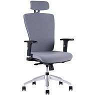 HALIA s podhlavníkem šedá - Kancelářská židle