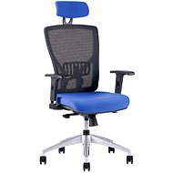 HALIA MESH s podhlavníkem modrá - Kancelářská židle