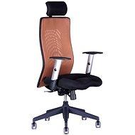 CALYPSO GRAND s podhlavníkem černo/hnědá - Kancelářská židle