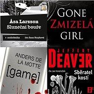 Balíček audioknih světových detektivek za výhodnou cenu - Anders de la Motte, Gillian Flynn, Jeffery Deaver, Asa Larsson