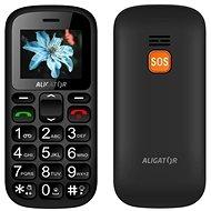 Aligator A321 Senior Grey + stolní nabíječka - Mobilní telefon