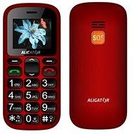 Aligator A321 Senior červeno-černý + stolní nabíječka - Mobilní telefon