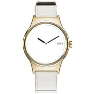 TCL MOVETIME Smartwatch Leather Gold/White - Chytré hodinky