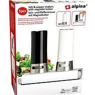 Alpina Soľnička + Korenička - magnetické otváranie 15x9x13cm