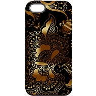 """MojePouzdro """"gold-black"""" + protective glass for iPhone 6 / 6S"""