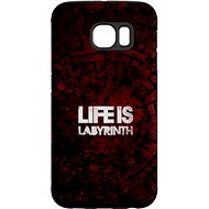 """MojePouzdro """"Life is a maze"""" + protective glasses for Samsung Galaxy S7"""