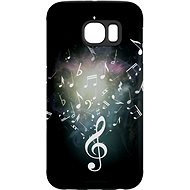 """MojePouzdro """"Sheet Music"""" + protective glasses for Samsung Galaxy S7"""