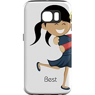 """MojePouzdro """"Best Friends 1"""" + protective glasses for Samsung Galaxy S7"""