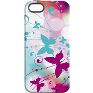 """MojePouzdro """"Bílý motýl"""" + ochranné sklo pro iPhone 5s/SE - Zadní kryt"""
