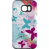 """MojePuzdro """"Biely motýľ"""" + ochranná fólia na Samsung Galaxy S6 Edge"""