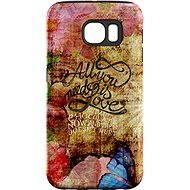 """MojePouzdro """"Láska je Všechno"""" + ochranná fólie pro Samsung Galaxy S6 Edge - Zadní kryt"""