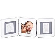 Baby Art Doppelbilderrahmen - weiß / grau