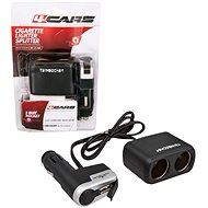 4CARS Roztrojka zapalovače kombinovaná 12/24V S USB