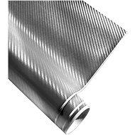 4CARS Fólie 3D CARBON se vzduchovými kanálky stříbrná 1.52x10m - Fólie