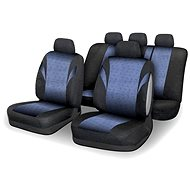 Compass seat covers set POLY 9 pieces of blue AIRBAG