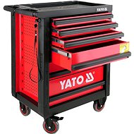 YATO Skříňka dílenská pojízdná 6 zásuvek červená - Skříň
