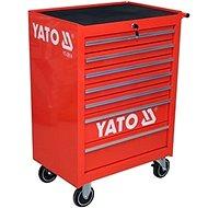 YATO Skříňka dílenská pojízdná 7 zásuvek červená - Skříň