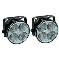 Světla denního svícení LED kulaté, 4 LED