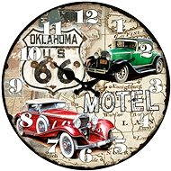Designer glass wall clock VM14A1085