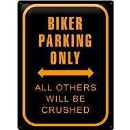 Tin Sign Biker parking only