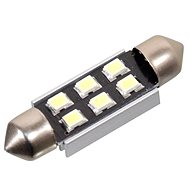 6 SMD LED Birne 12V suf. SV8,5 38 mm mit Widerstand CAN-BUS Weiß
